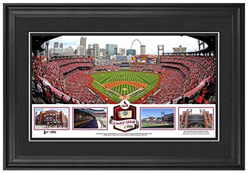 busch-stadium-st-louis-cardinals-framed-stadium-panoramic-with-game-used-ball-limited-edition-of-500
