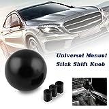 RYANSTAR Shift Knob Adapter kit Universal Car Gear Shifter Lever Round Ball Shape Black: more info