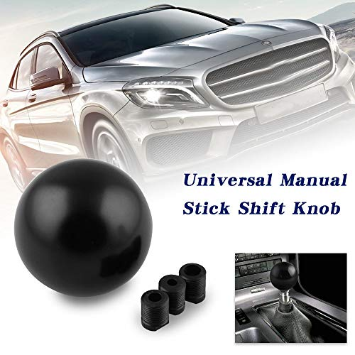 RYANSTAR Shift Knob Adapter kit Universal Car Gear Shifter Lever Round Ball Shape Black
