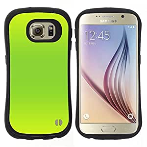 """Hypernova Slim Fit Dual Barniz Protector Caso Case Funda Para Samsung Galaxy S6 [Vibrante verde de neón de color brillante""""]"""