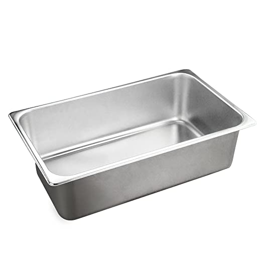 bestomz Bandeja horno rectangular de acero inoxidable caja de ...
