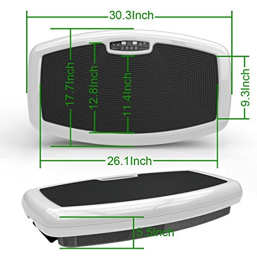 "Maximum User Weight 330LB 200W Super Thin Full Body Vibration Plate ""Health Line Massage Products """