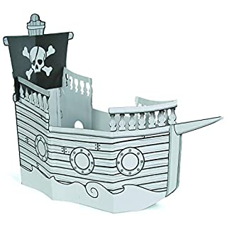Color Your Own Pirate Ship Playhouse - Crafts for Kids and Fun Home Activities