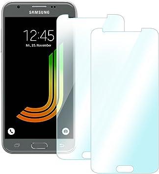 2 x Protector de pantalla para Samsung Galaxy J3 2017 UC-Express – Cristal Cristal Cristal 9H: Amazon.es: Electrónica
