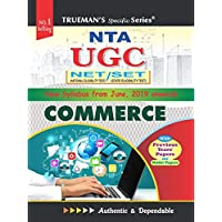 Trueman's UGC NET/SET Commerce 2019 Edition New Syllabus