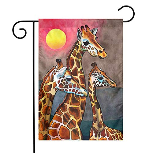 Hhill Swater Giraffe Family Garden Flags 12x18 Inch Outdoor Yard Flags for Garden Decor House Decoration | Polyester, Durable, Anti-Wrinkle, Thick