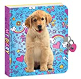 Playhouse Puppy Doodles Lock and Key Lined Page Diary for Kids