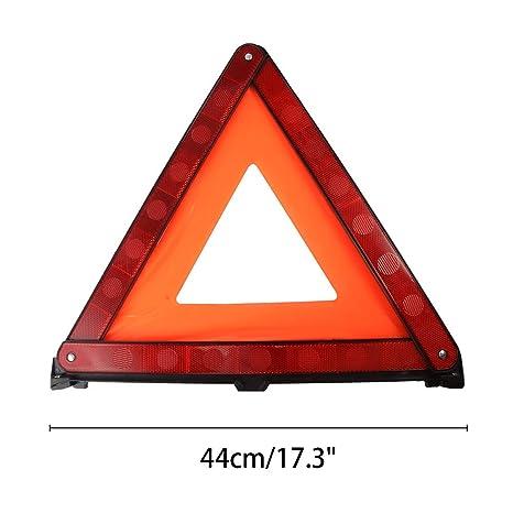 2 X Road Hazard Breakdown Warning Triangle Foldable FREE SHIPPING UK STOCK