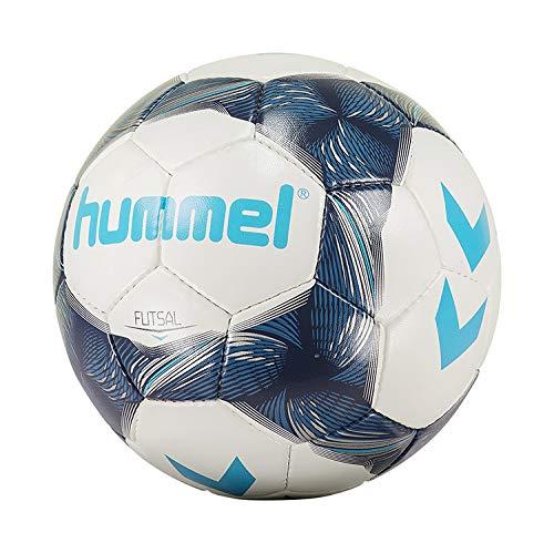 Hummel Futsal - Balón de fútbol, White/Metallic Navy/Bright Blue, 4