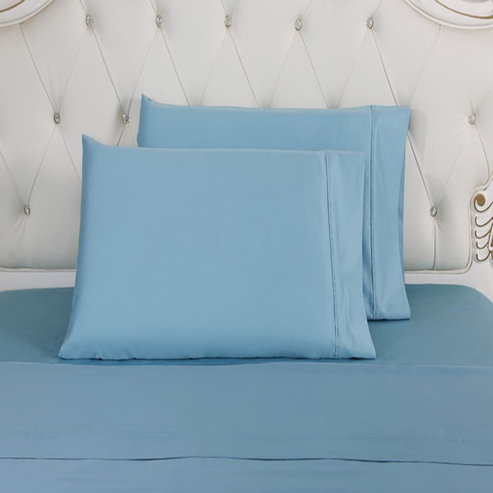 Affluence Home Fashions 620 Thread Count Sheet and Pillowcase Set Queen Nile Blue JS Royal Home 102831