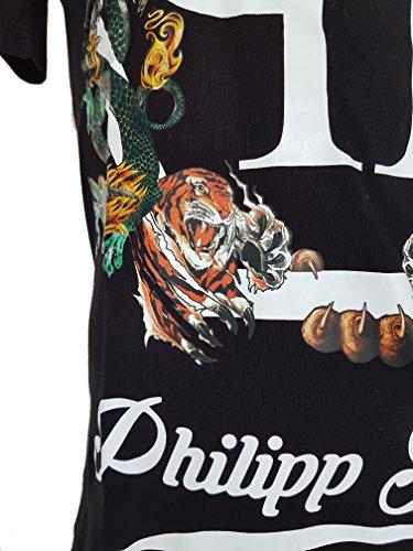 """Philipp Plein T-Shirt """"Plein's Animals"""" Round Neck SS black/schwarz"""