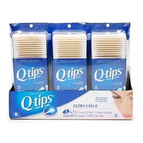 Qtips Cotton Swab, 625 Count (Pack of 6)