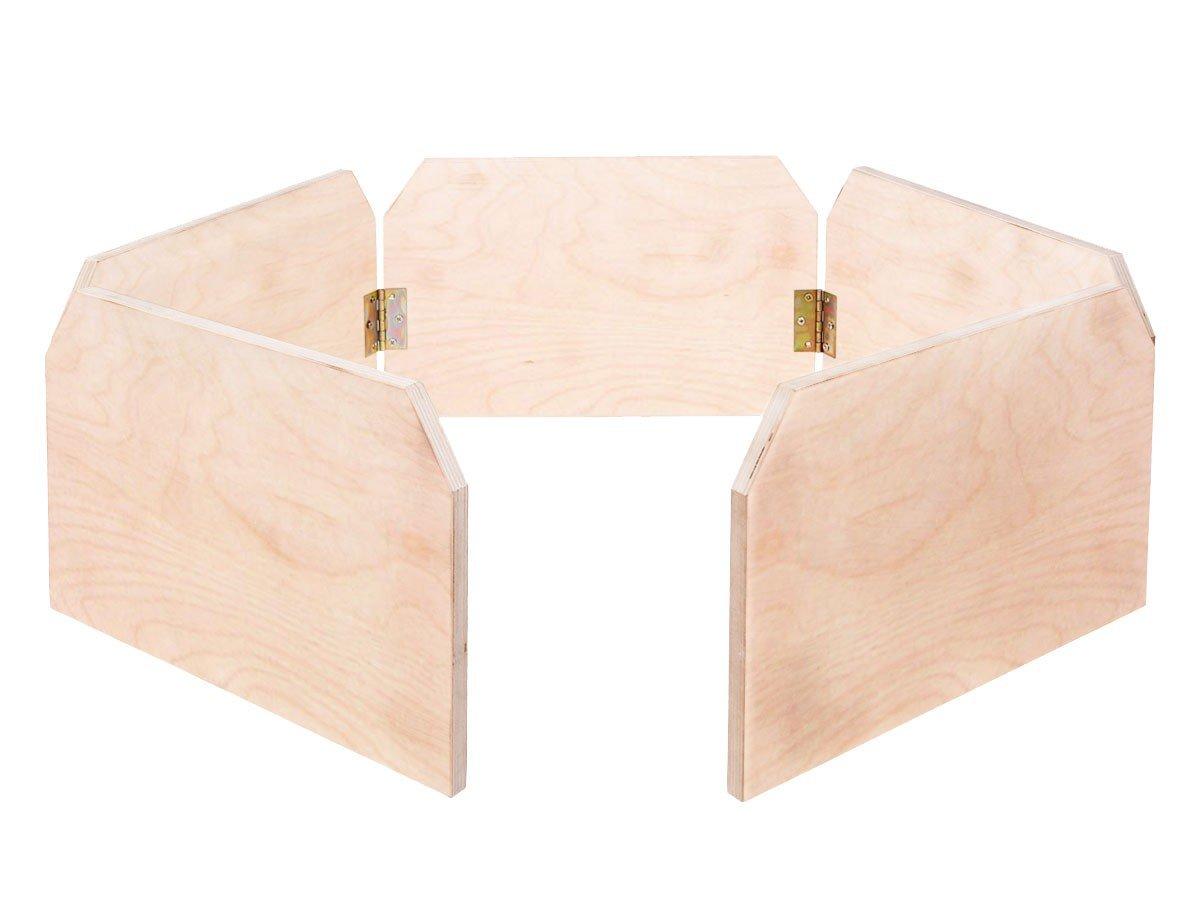 Enclos tortue bois avec ou sans Clôture, bien fabriquée à la main, avec aire de jeux, Clôture couleur nature Trend-world.eu