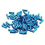 Image of fitTek® 100x Bicycle Bike Shifter Brake Cable Tips Caps End Crimp Blue
