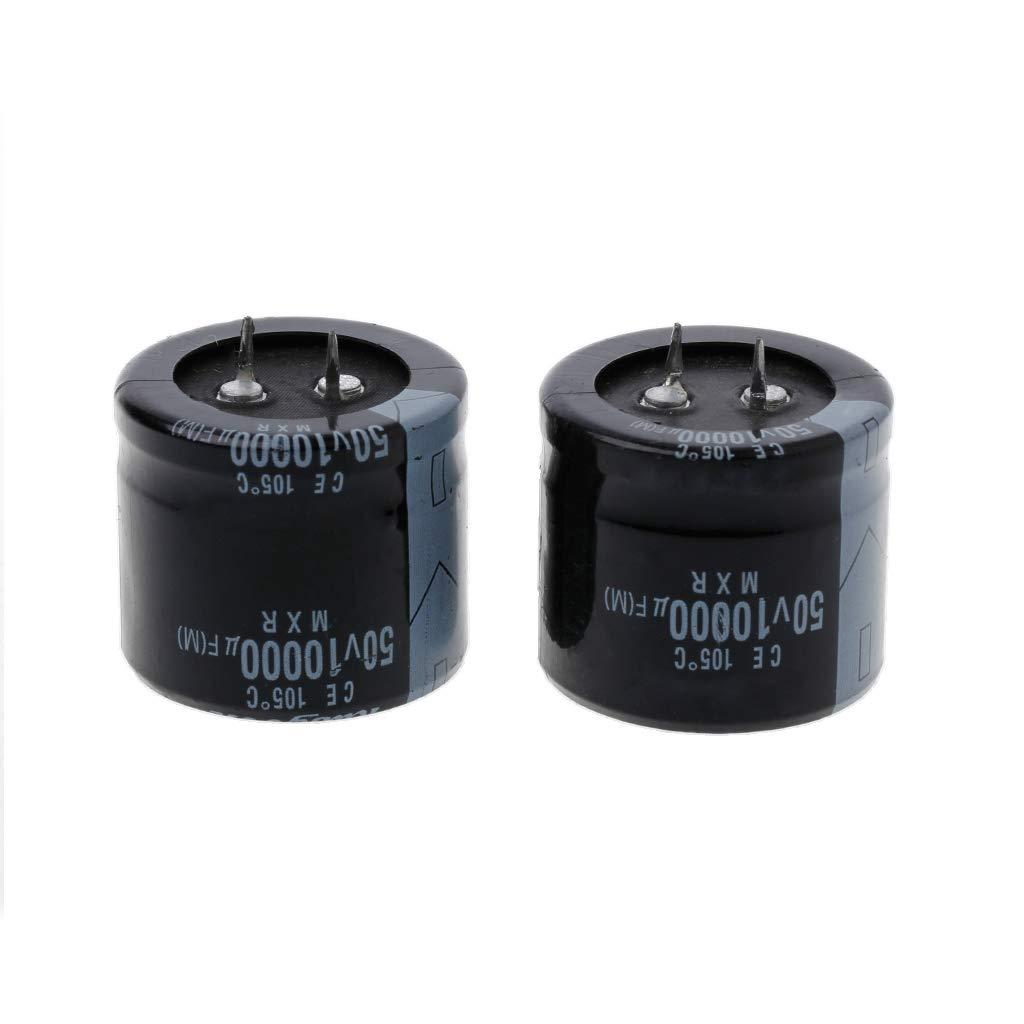Yintiod 2 St/ück 10000uF 50V Kapazit/äts-Aluminium-Elektrolyt-Radialkondensator zum Einrasten