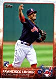 2015 Topps Update #US82 Francisco Lindor Baseball Rookie Card in Protective Display Case