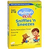 Hylands Homeopathic Sniffles n Sneezes 4 Kids - 125 Tablets (Pack of 2)