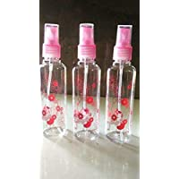 Amigozz 100ml Empty Cute Bear & Floral Refillable Fine Mist Spray Bottle, 3 Pc (Random Colour)