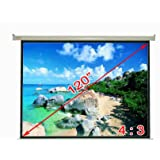 """Antra Electric Motorized 120"""" 4:3 Projector Projection Screen Matte White"""