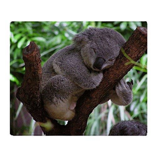 CafePress Sleepy Koala Soft Fleece Throw Blanket, 50
