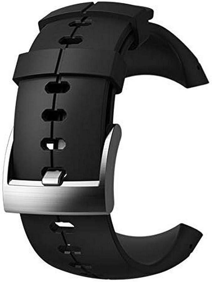 Suunto Original Ersatz Uhrenarmband Für Alle Suunto Sparten Ultra Uhren Silikon Länge 24 5 Cm Stegbreite 25 Mm Schwarz Silber Inkl Stifte Zur Montage Ss022689000 Sport Freizeit