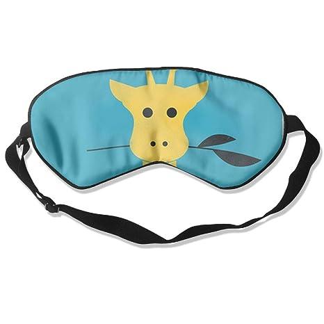 Hahay - Máscara para Dormir con diseño de Jirafa y Dibujos Animados, cómodos Antifaz para