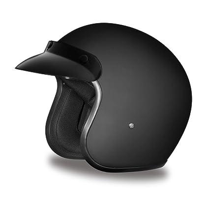09593e53891 Amazon.com  Daytona Helmets Cruiser Slim Line 3 4 Shell Helmets (Dull  Black