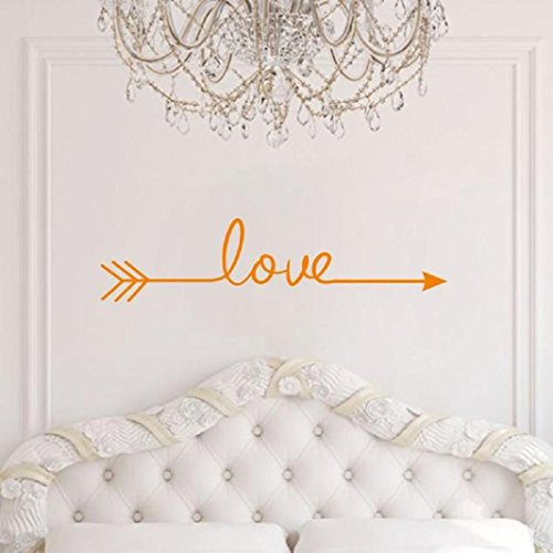 Orange Wall Decor - Iuhan Fashion Love Arrow Decal Living Room Bedroom Vinyl Carving Wall Decal Sticker for Home Decoration (orange)