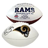 #6: Todd Gurley Autographed Los Angeles Rams White Panel Logo Football - JSA Certified Authentic - LA Rams Autographed Signed Footballs