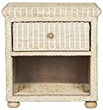 Adira Wicker Nightstand in Natural White Wash