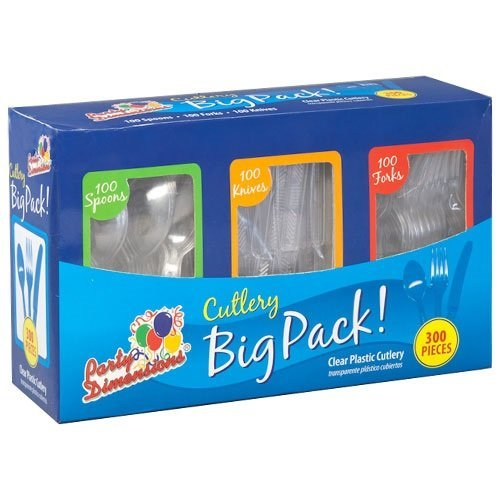 Party Dimensions 300 Count Cutlery Combo Box, Clear