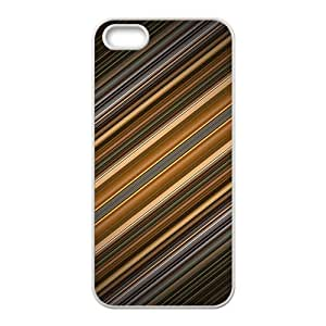 Simple gray oblique line pattern Phone Case for iPhone 5S(TPU)
