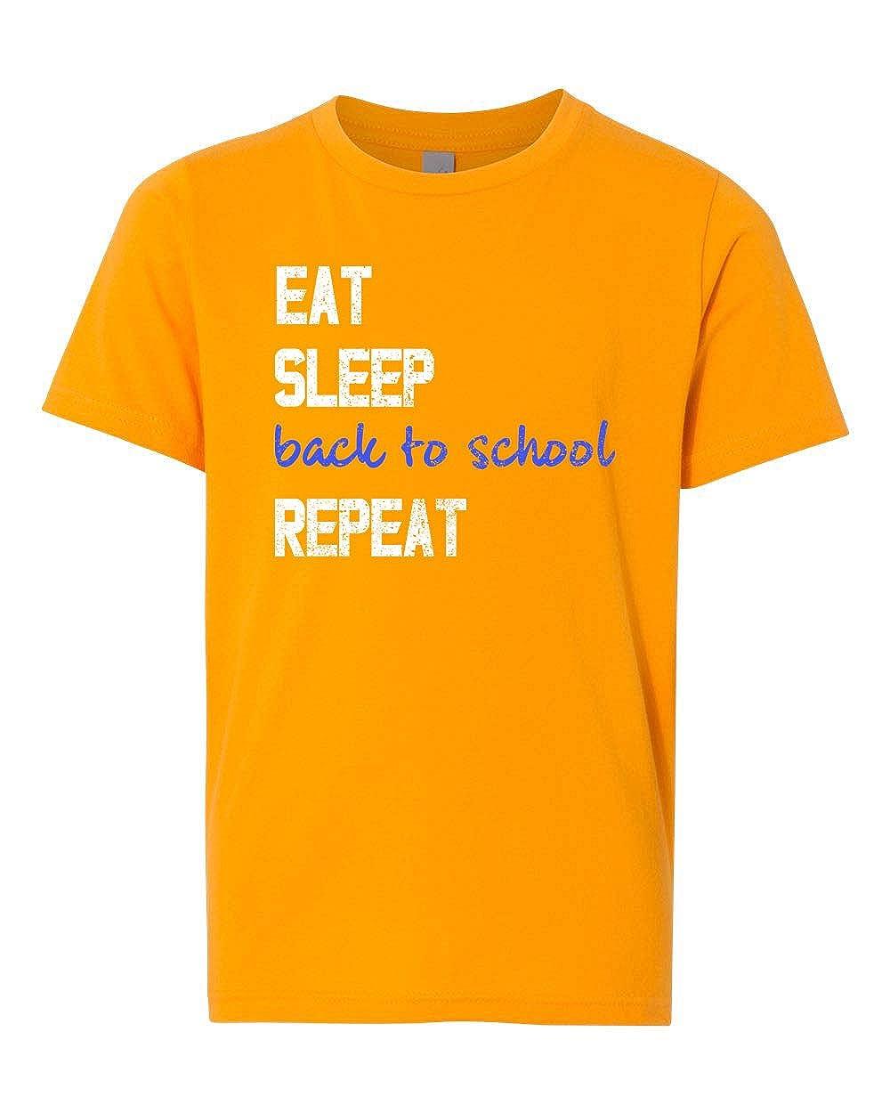 Custom Apparel R Us Eat Sleep School Repeat Boys Girls Graphic Tees Short Sleeve