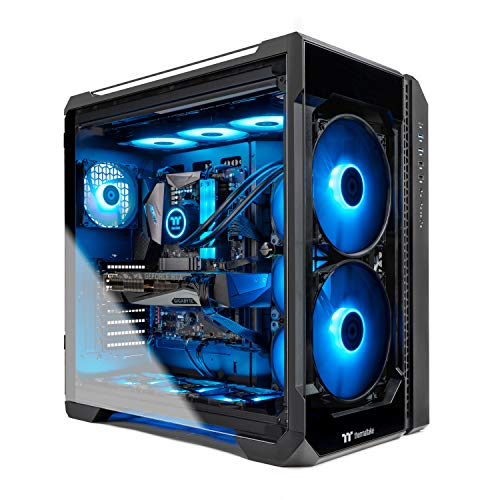 Thermaltake LCGS View 390 AIO Liquid Cooled CPU Gaming PC (AMD RYZEN 9 3900X 12-core, ToughRAM DDR4 3600Mhz 16GB RGB Memory, RTX 3090 24GB, 1TB M.2, Win 10 Home) V51B-X570-V39-LCS