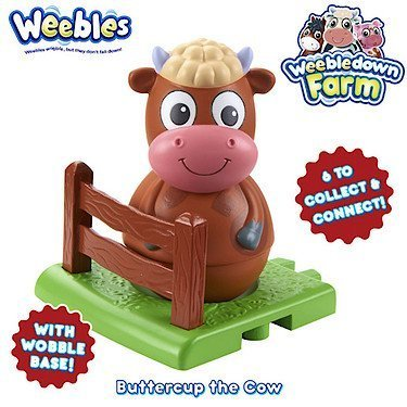 Weebledown Farm Weebles Figure & Base Buttercup The Cow by Character Options B017CB8QXW