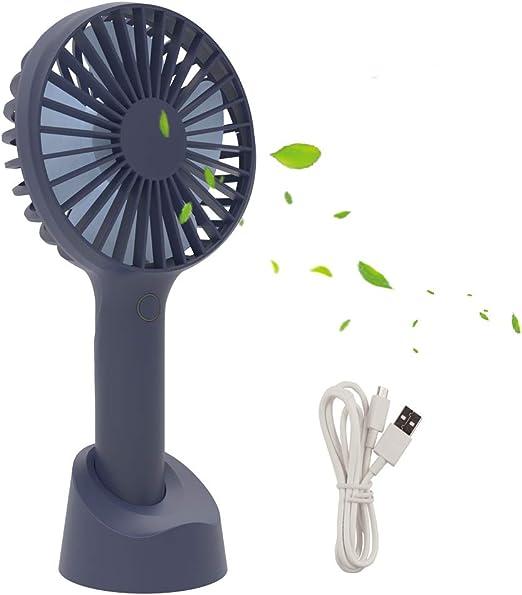 RIXOW Ventilador Portátil Recargable, Mini Ventilador de Mano USB ...