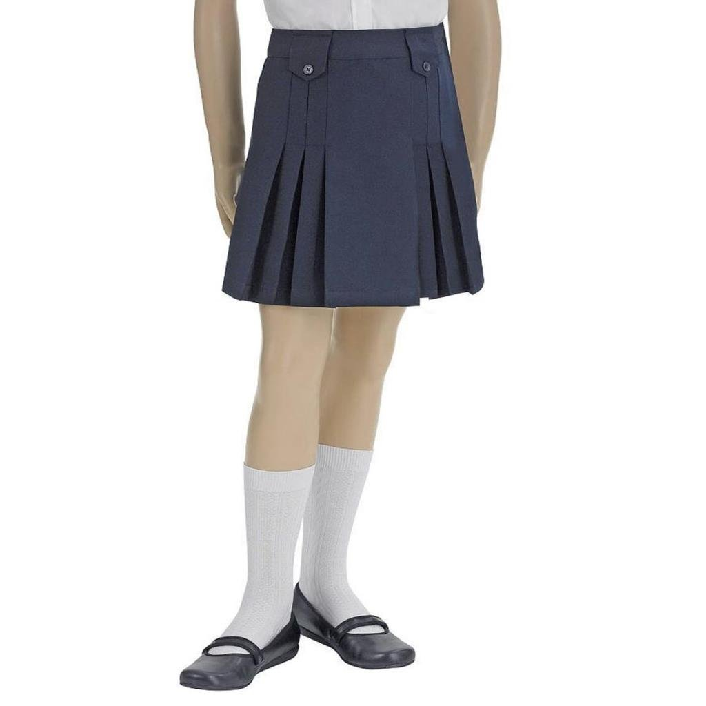 French Toast Girls' Front Pleated Skirt-Navy