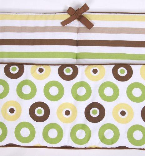 Mod Dots/Stripes Green/choco Bumper ()
