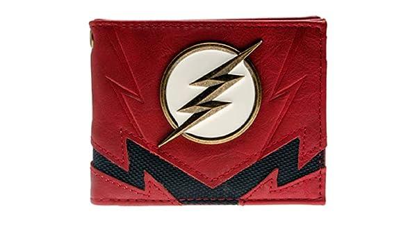 The Flash Logo DC Comics Metal Badge Front Pocket Card Wallet