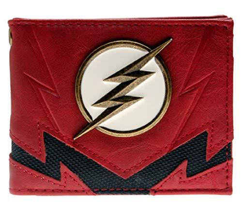 Flash Superhero Metal Logo Bi Fold WALLET