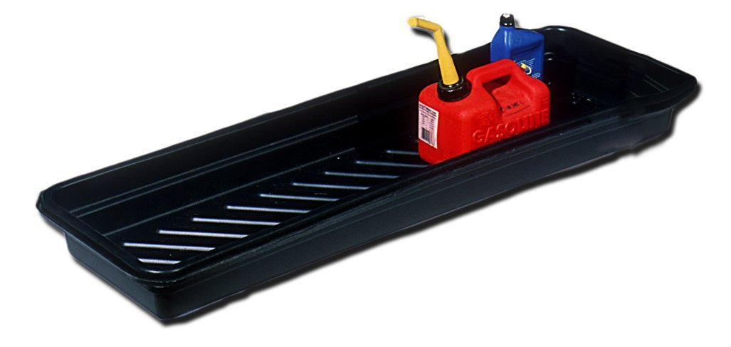 UltraTech 1031 Polyethylene Ultra-Utility Tray, 12 Gallon Capacity, 52-1/4'' Length x 16-1/4'' Width x 5'' Height, Black