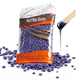 Hair Removal Hard Wax Beans Lavender Depilatory for Man and Woman Hair Remove Do Not Hurt Your Skin 300G (Purple)