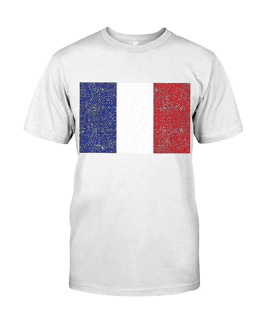 Ashlee Felders France Flag T-Shirt Premium Fit Tee White XS