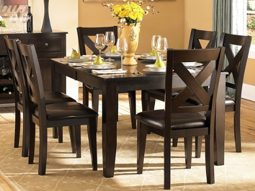 Crown Point 7 PC Dining Table Set by Home Elegance in Merlot
