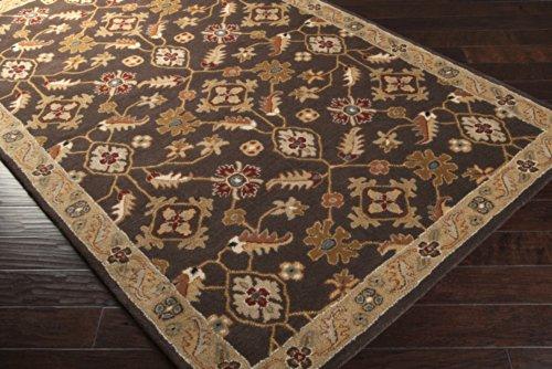 Surya Caramel (Surya Caesar CAE-1083 Classic Hand Tufted 100% Wool Espresso 3' x 12' Traditional)
