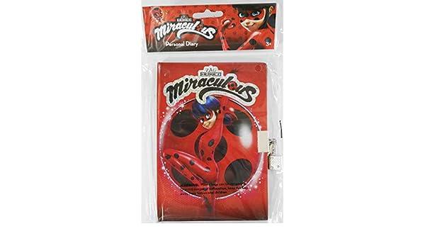 Ladybug Disney Miraculous Agenda de 50 hojas con sello de ...