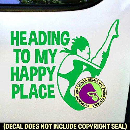 HAPPY PLACE Springboard Diver FEMALE Vinyl Decal Sticker F