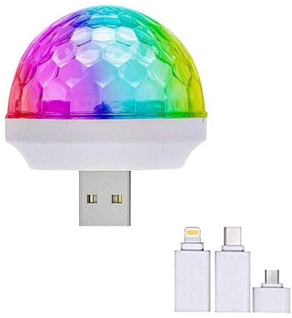 LED del coche del USB Ambiente luz, las luces del coche Mini ...