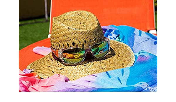 97bc07eb Amazon.com: Home Comforts Peel-n-Stick Poster of Sunglasses Pareo Summer Straw  Hat Poster 24x16 Adhesive Sticker Poster Print: Posters & Prints