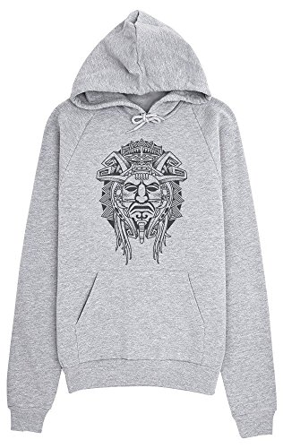 Tribal Aztec Face Tattoo Design Women's Hoodie Pullover